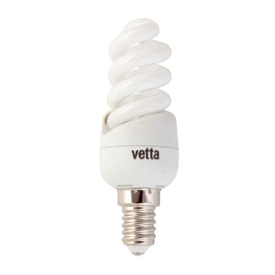 925-380 VETTA Лампа энергосберегающая E14 9W 2700K полн. спираль, трубка Т2