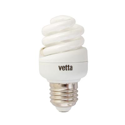 925-381 VETTA Лампа энергосберегающая E27 15W 2700K полн. спираль, трубка Т2