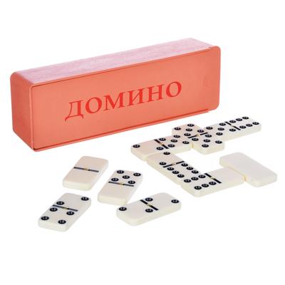 341-159 Домино пластик, в пластиковом пенале 17,8х5,8 см, 5008В, пластик