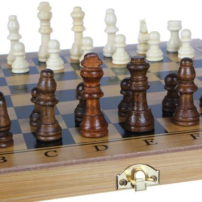341-161 Набор игр 3 в 1 (шашки, шахматы, нарды), МДФ, 30х30см, 7911