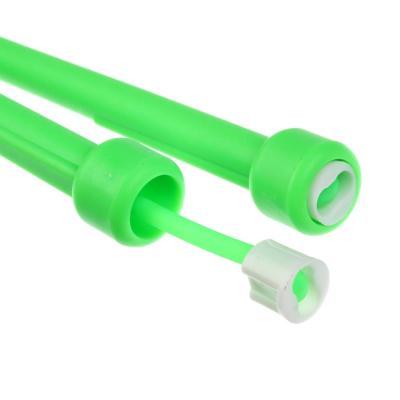 342-217 Скакалка силиконовая с тонкими ручками, пластик, ПВХ, 2,8м х 4,7мм, 4 цвета, SILAPRO