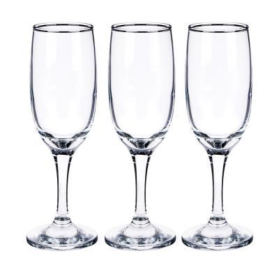 """818-786 Набор фужеров для шампанского 3шт., 190 мл, """"Бистро"""""""
