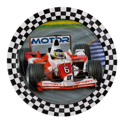 """123-511 Пикник-Набор тарелок бумажн """"Формула 1"""" 18см, 6шт"""