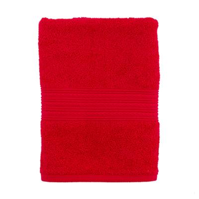 """484-096 Полотенце махровое, 100% хлопок, 50x90см, """"ДМ"""", бордовый"""