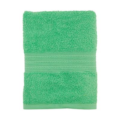 """484-097 Полотенце махровое, 100% хлопок, 50x90см, """"ДМ"""",  зеленый"""