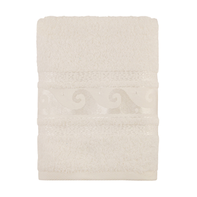 484-102 Полотенце махровое, 100% хлопок, 50x90см, Cleanelly, белый