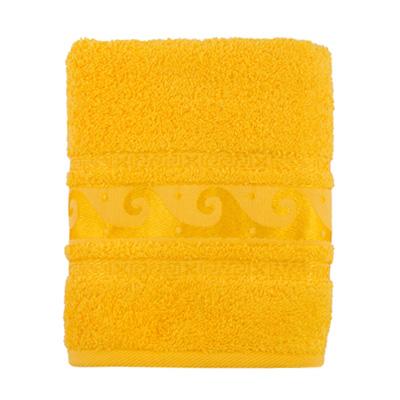 484-103 Полотенце махровое, 100% хлопок, 50x90см, Cleanelly, желтый