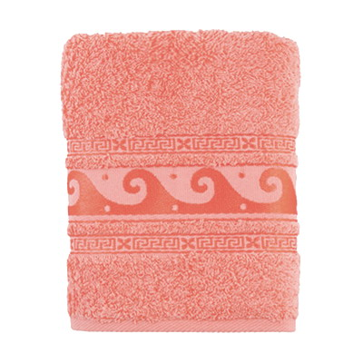 484-106 Полотенце махровое, 100% хлопок, 50x90см, Cleanelly, розовый