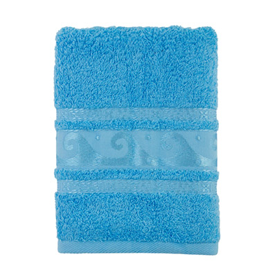 484-107 Полотенце махровое, 100% хлопок, 50x90см, Cleanelly, голубой
