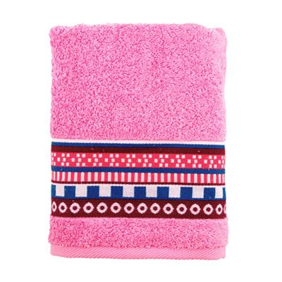 484-121 Полотенце махровое, 100% хлопок, 50x90см, Cleanelly Виваче, розовый
