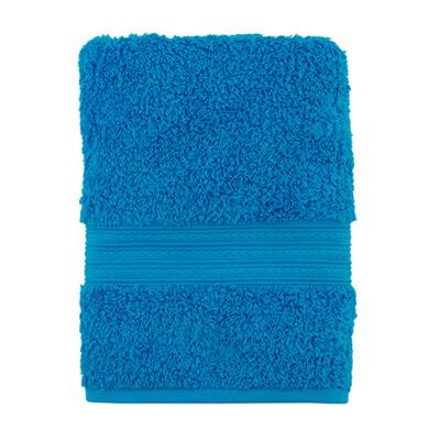 """484-131 Полотенце махровое, 100% хлопок, 50x100см, """"ДМ Люкс"""" Радуга, голубой"""