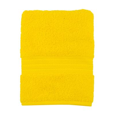 """484-134 Полотенце махровое, 100% хлопок, 50x100см, """"ДМ Люкс"""" Радуга, желтый"""