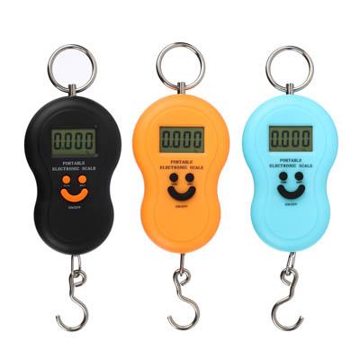 487-012 Безмен электронный с дисплеем, с подсветкой, пластик, макс. нагр. 50кг, 3 цвета