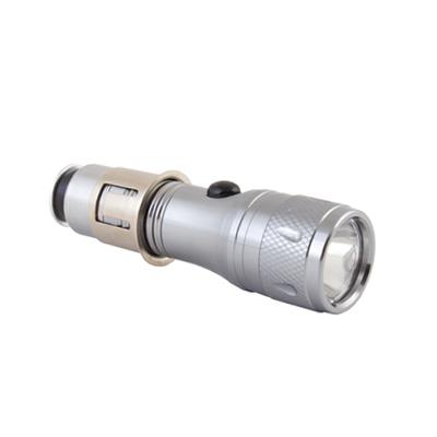 771-090 NEW GALAXY Фонарь светодиодный в прикуриватель, аккумуляторный, металлический корпус, 12B 1W
