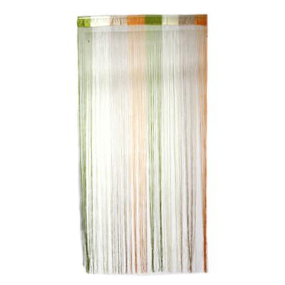 491-091 Занавеска нитяная межкомнатная, полиэстер, разноцветная, 1х2м