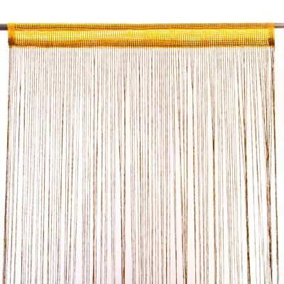 491-095 Занавеска нитяная 1x2м, с блестками, оранжевая