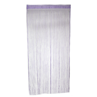 491-096 Занавеска нитяная 1x2м, с блестками, фиолетовая