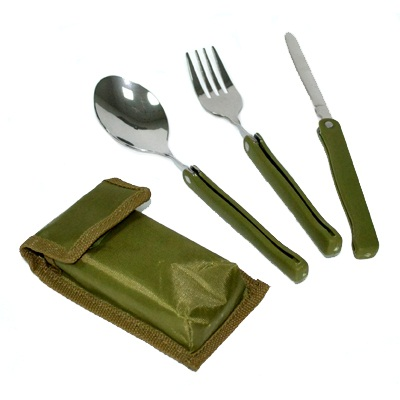 333-525 Набор туриста в чехле (вилка, ложка, нож) 3пр