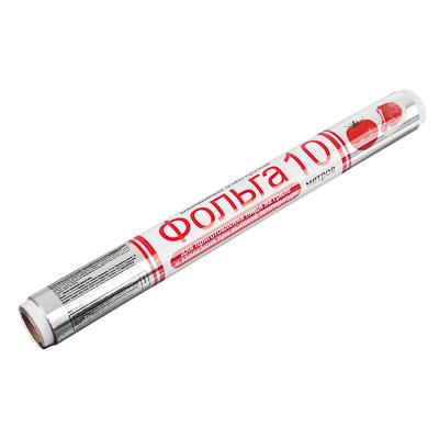 438-035 GRIFON Фольга алюминиевая особо прочная 29см х 10м в пленке 14 мкм 500-012