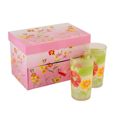 818-860 Набор стаканов 6шт, 260мл, Весенний цвет, подар уп