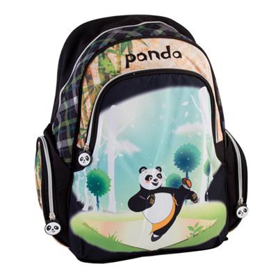 526-002 Рюкзак школьный Панда, 40.5* 30.5* 14см, 119K202