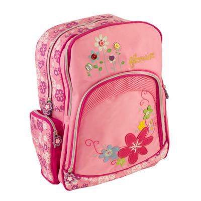 526-007 Рюкзак школьный Цветок, 38* 28 *16см, 119K502
