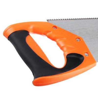 663-036 ЕРМАК Ножовка по дереву 400мм, закаленный зуб, трехстор заточка, (чистый пропил, 12 зубьев на дюйм)