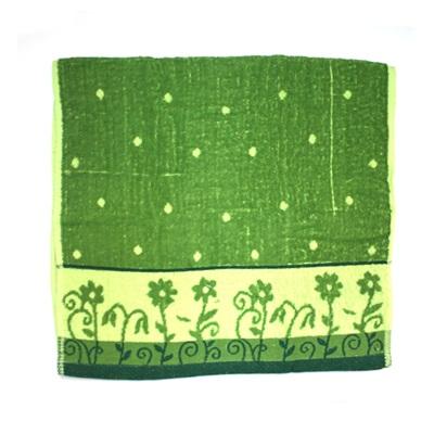 484-148 VETTA Полотенце банное, 100% хлопок, 50x100см, Flower field зелёное арт FBS285-2
