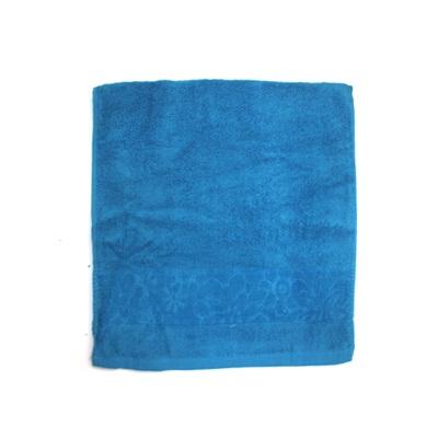 484-154 VETTA Полотенце банное, 100% хлопок, 34x70см, Ornament, синее арт.FBS306-1