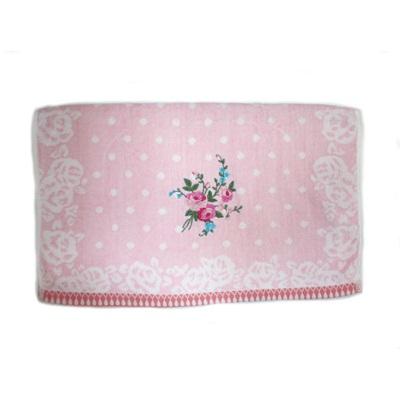 484-160 VETTA Полотенце банное, 100% хлопок Winter flower 50x90см, розовое арт FBS222-56
