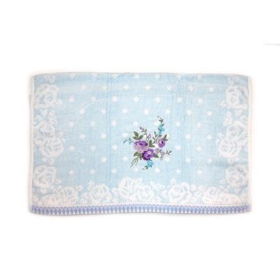 484-161 VETTA Полотенце банное, 100% хлопок Winter flower 50x90см, синее арт FBS222-56