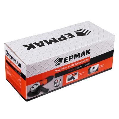 646-233 ЕРМАК Машина шлифовальная угл. УШМ-115/600, 600 Вт, 115 мм, 11000 об/мин, рег. з.кожуха б/кл.