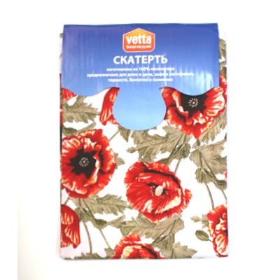 439-116 VETTA Kitchen скатерть 140х150см PE RUBY FLOWER