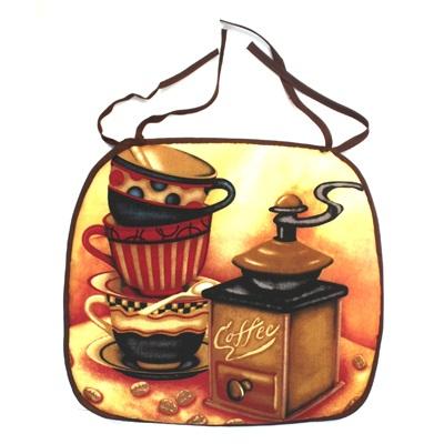 439-133 VETTA Kitchen Cидушка для стула 33х38см, полиэстер, Coffee creme