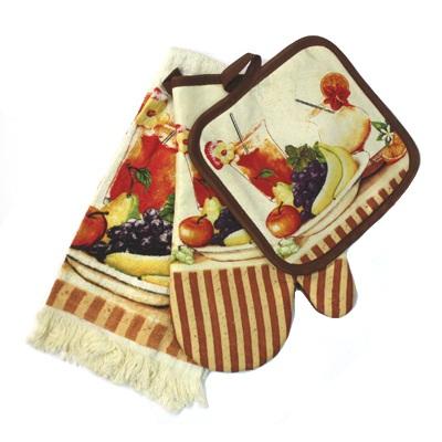 439-135 VETTA Kitchen Набор кухонный 3 пр. (варежка+прихватка+полотенце) FM015