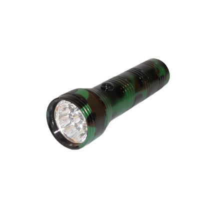 328-012 Фонарик металл со светодиодами, цвет камуфляж (цинк. сплав), 9 LED, бат. 3хААА, арт. BL-303PM-9c