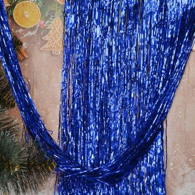 377-128 СНОУ БУМ Дождик 15х150см 0,2см ПВХ, голография, 6 цветов, MY186