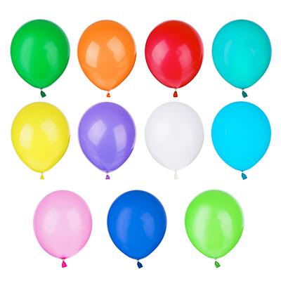"""513-089 Шары воздушные 10 шт, 12"""", цветные в пакете"""