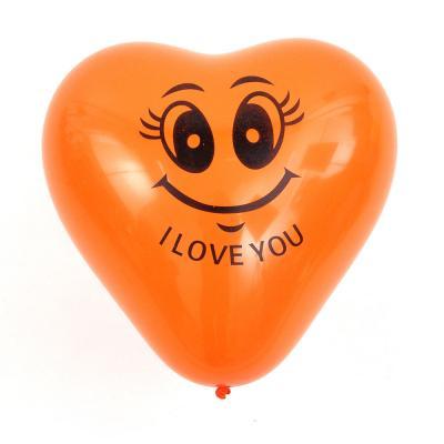 """513-095 Шары воздушные, 10 шт, 12"""", цветные в пакете, """"Сердце Я тебя люблю"""""""