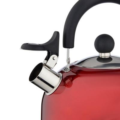 847-002 Чайник стальной, 2.5л, красный
