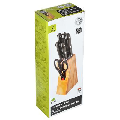 803-104 Набор ножей на подставке, 7 предметов ножи+подставка