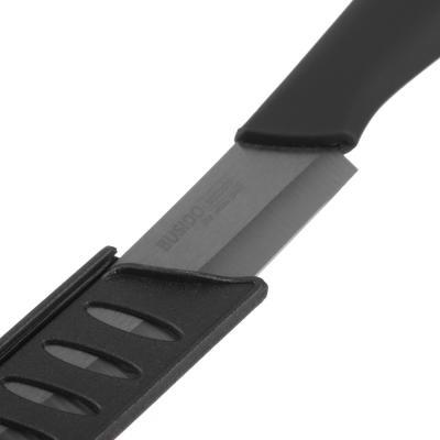 803-106 SATOSHI Бусидо Нож кухонный керамический, черный, 10см