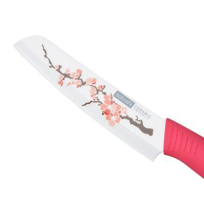 803-128 Нож кухонный 15 см SATOSHI Сакура, керамический