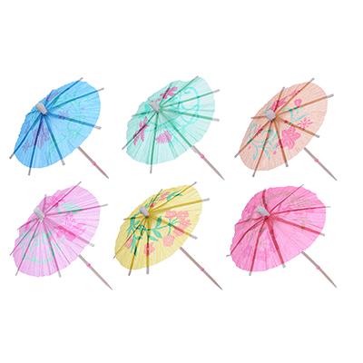 """437-072 Пики декоративные 30шт, 100мм, цветные, """"Зонтики"""""""