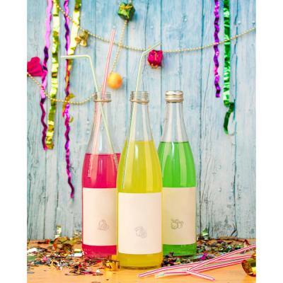 """437-083 Трубочки для напитков 50шт, 240x5мм, цветные, """"Праздничные"""""""