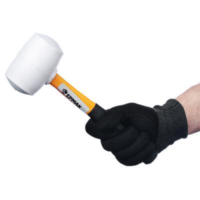 662-013 ЕРМАК Киянка, белая резина, фибергласовая обрезиненная рукоятка 460гр