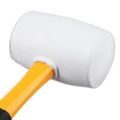 662-014 ЕРМАК Киянка, белая резина, фибергласовая обрезиненная рукоятка 680г