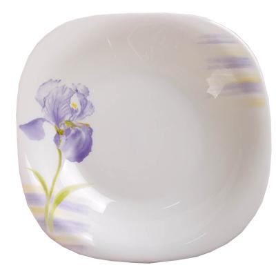 818-056 VETTA Эней Тарелка суповая опаловое стекло 230мм квадратная FFSP90/6