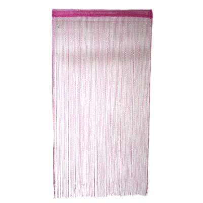 491-102 Занавеска нитяная 1x2м, с блестками, розовая