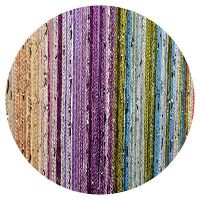 491-104 Занавеска нитяная межкомнатная с блестками, полиэстер, 1х2м, 5 цветов